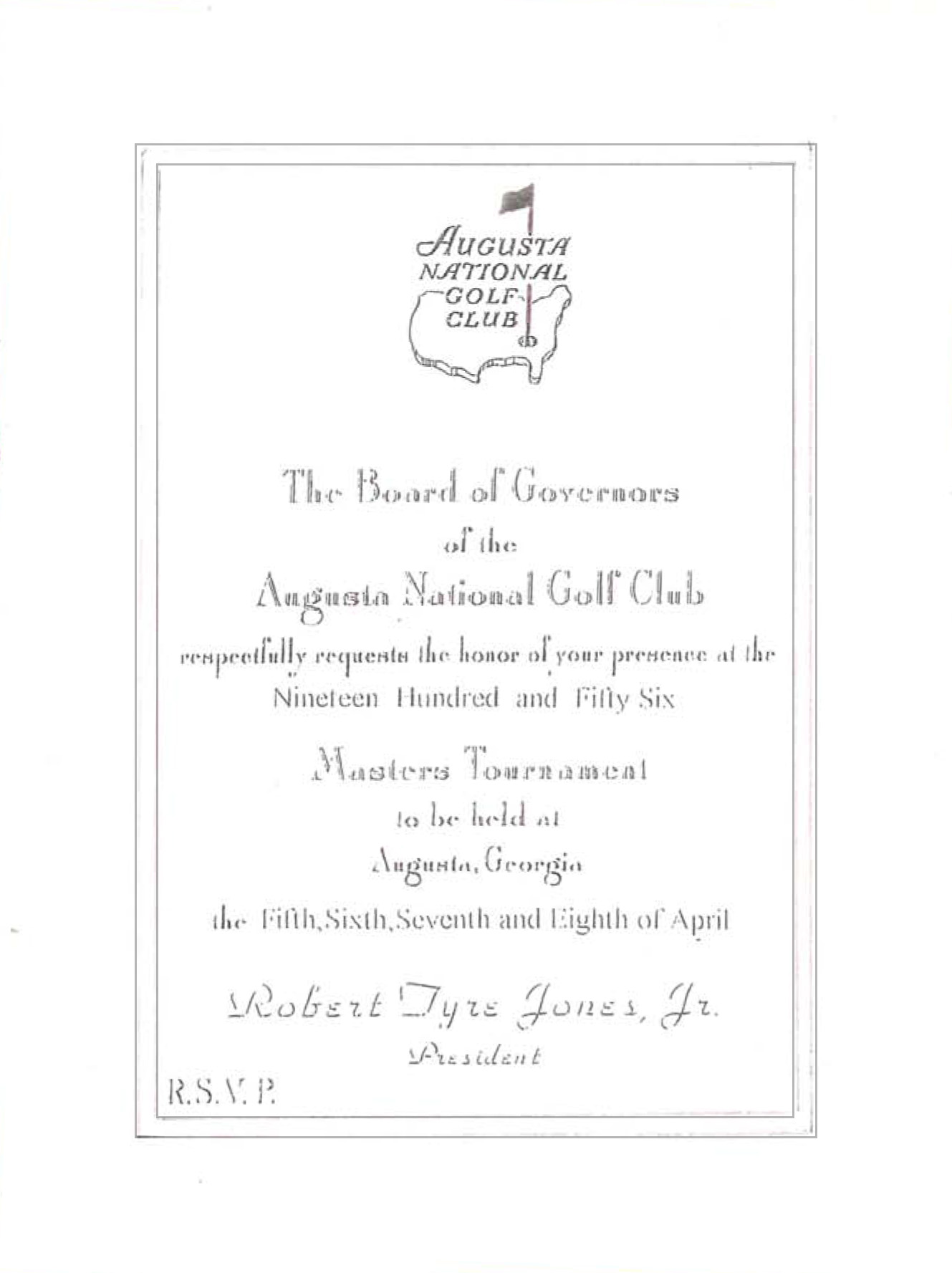 1956 Masters Invitation Badge