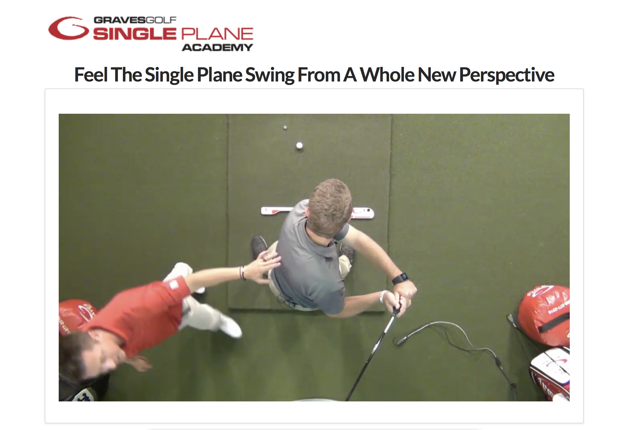 Single Plane Golf Swing