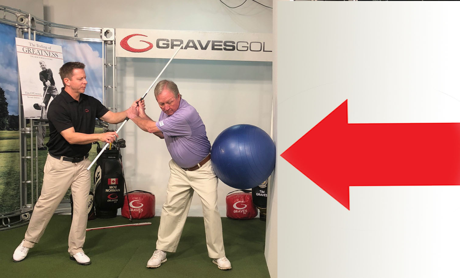 Graves Golf Wall Ball Drill
