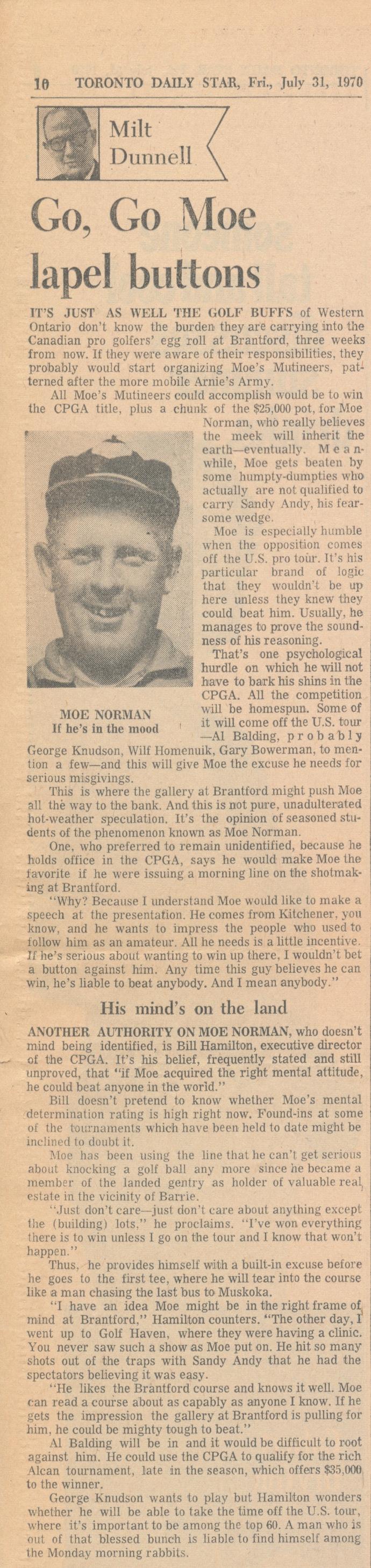 1970 Toronto Daily Go, Go Moe.jpg